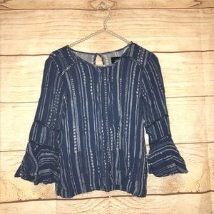 MINKPINK size small blue blouse
